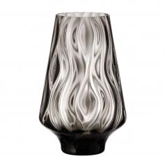 Optic Rhythm vase 250 black
